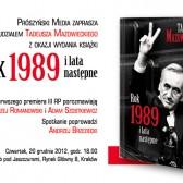 Rok 1989 - zaproszenie na debatę