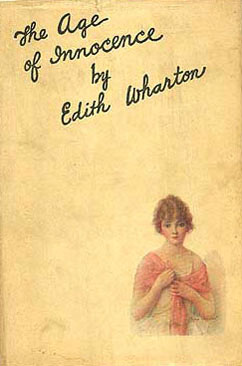 Dust jacket from the 1st book edition of The Age of Innocence, published in the US in 1920